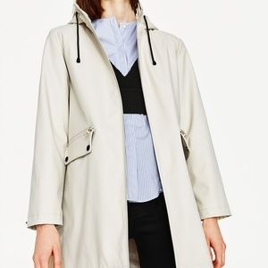 ZARA Water Repellent Parka Raincoat
